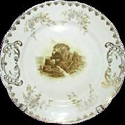 Imperial Karlsbad China Transferware Plate, PB 2370