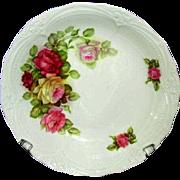 SOLD German Porcelain Bowl, Pretty Pink Roses Pattern