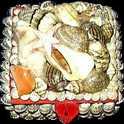 REDUCED Seashell Trinket Box ~ 1970's
