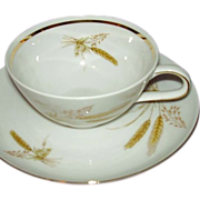 Winterling Bavarian Wheat Pattern Set of 8 Cups and Saucers 1940s
