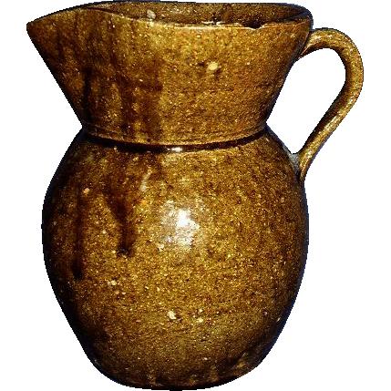 Catawba Valley Pottery Alkaline Glaze Pitcher Circa 1865