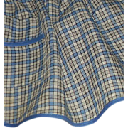 REDUCED Blue & White Plaid Handmade Apron
