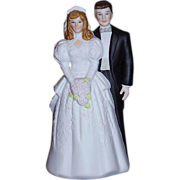 SALE Bride and Groom Wedding Cake Topper Bisque Porcelain 1988 MINT