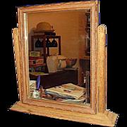 REDUCED Oak Shaving Tilting Vanity Mirror