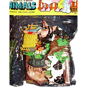 REDUCED Plastic Farm Animals ~ 23 Piece Unopened Package ~ Hand Painted ~Made in Hong ...