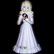 """Enesco """"Growing Up"""" Birthday Girl Figurine, Age 9, Dated 1981"""