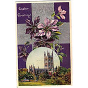 1912 Embossed Easter Cathedral Post Card ~ Printed in Germany