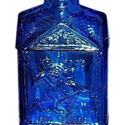Wheaton Blue Glass Paul Revere Bottle