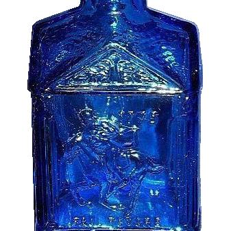 Wheaton Blue Glass Paul Revere Bottle