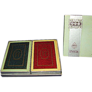 REDUCED Congress Riviera Monogram R Playing Cards ~ Double Deck