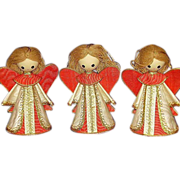 SOLD Angel Christmas Ornaments ~ Vintage Set of 3 ~ Made in Japan