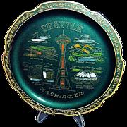 Seattle Washington Souvenir Tray Kingdome Stadium, Made in Japan