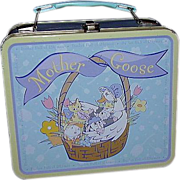 Mother Goose Metal Lunch Box ~ Nursery Rhyme Characters