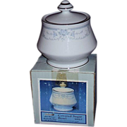 Sheffield Blue Whisper Footed Sugar Bowl ~ Japan ~ 1985 MIB