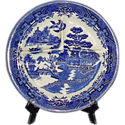 REDUCED Blue Willow Restaurant Ware Grille Plate IDEAL Ironstone USA