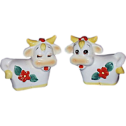 Whimsical Cows Salt & Pepper Set ~ Made in Japan
