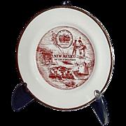 "New Mexico Miniature Souvenir Plate ""The Land of Enchantment"""