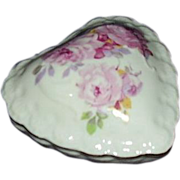 SOLD Irice Heart Shaped Soap Dish with Original Embossed Heart Soap