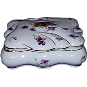 SALE Norcrest Fine China Vanity Box, Sweet Violets