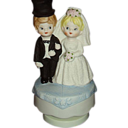 SALE Bride and Groom Music Box Plays Here Comes The Bride Lego Japan