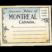 SOLD Souvenir Photo Folder Montreal Canada 1920s Color Miniatures