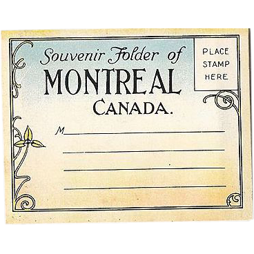 Souvenir Photo Folder Montreal Canada 1920s Color Miniatures