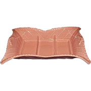 Miramar Pottery California #620 Large Pink 1956 Divided Serving Dish