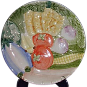 REDUCED Fitz and Floyd Vegetable Garden Collection Canape Plate 1986