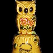 Mount Rushmore SD Souvenir Bell, Adorable Owl, Made in Japan