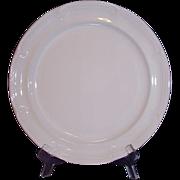 "International Sunmarc Triple White Stoneware Chop Plate ""Placid"" Japan"