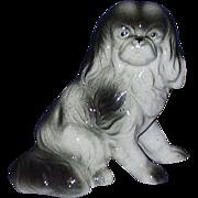 Pekingese Dog Porcelain Figurine JAPAN