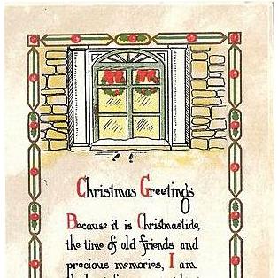 1917 Embossed Christmas Postcard