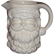 Santa White Ceramic Pitcher Made in Japan ~ 5 Inches