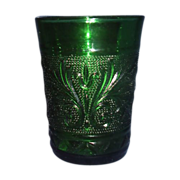 Anchor Hocking Forest Green Sandwich Glass Juice Glass