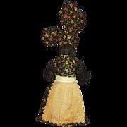 Black Americana Mammy Bell Doll New Orleans Souvenir