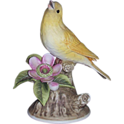 Canary Porcelain Sculpture Andrea by Sadek 8627 Made in Japan