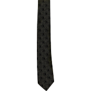 Wembley Skinny Neck Tie Olive Green 1960s