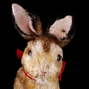 REDUCED Large Early Post WWII Steiff PRE-Manni Begging Rabbit Hase Bunny ID US-Zone ...