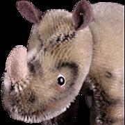 Tiny Baby Brother Steiff Nosy Rhinoceros 1954-1964 Glass Googly Eyes