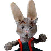 Miniature Schuco Dressed Poseable Mascot Rabbit Bunny Doll Figure