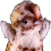 Adorable Tiny Fuzzy Steiff Spotted Chick Chicken Baby Bird All ID Six Years Only