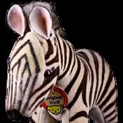 Rare Baby Brother Steiff Velveteen Covered '50s/'60s Zebra Colt ID