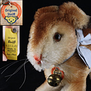 Mid Size Steiff '50s/'60s Pre-Hoppy Hase Rabbit Bunny All ID