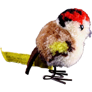 SALE PENDING Teeny Tiny Earliest Post WWII Model Steiff Wool Miniature Colorful Finch Buntfink