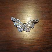 Margot de Taxco Sterling Butterfly Brooch - Mexico