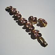 Juliana 5 Link Bracelet and Earrings in Pink - Book Piece