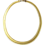 Milor Italy Gold Plated Sterling Necklace