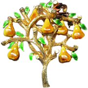 Cadoro Partridge in a Pear Tree  - Christmas Brooch