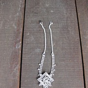 Weiss Dangling Necklace with Clear Rhinestones