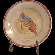 1925 vintage advertising plate. A. B. UDE CO. Deshler Nebr. featuring 48 star American Flag